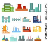 factory and facilities cartoon... | Shutterstock . vector #1013663593
