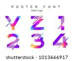 vector colorful typeset. blue ... | Shutterstock .eps vector #1013666917