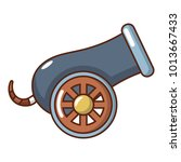 anti aircraft gun icon. cartoon ... | Shutterstock .eps vector #1013667433