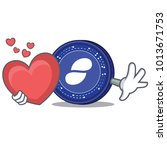 with heart status coin mascot... | Shutterstock .eps vector #1013671753