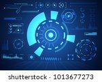 abstract technology ui... | Shutterstock .eps vector #1013677273
