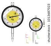basic dial gauge on transparent ...   Shutterstock .eps vector #1013687023