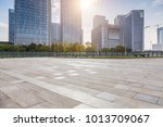 empty floor with modern... | Shutterstock . vector #1013709067