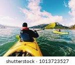 kayaking in alaska   Shutterstock . vector #1013723527