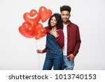 close up attractive african... | Shutterstock . vector #1013740153