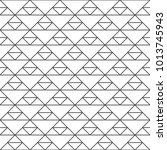 seamless pattern of triangles.... | Shutterstock .eps vector #1013745943