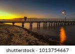 Dawn Sky Lagoon Pier Beach Por...