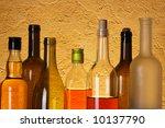 many bottles of alcoholic... | Shutterstock . vector #10137790