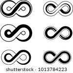infinity sign design collection ... | Shutterstock .eps vector #1013784223