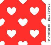 heart pattern background...   Shutterstock .eps vector #1013784913