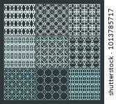 seamless pattern ornament... | Shutterstock .eps vector #1013785717