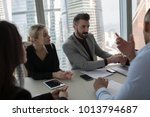 the business people sit at the... | Shutterstock . vector #1013794687