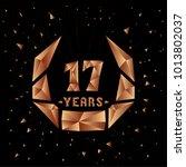 17 years anniversary design... | Shutterstock .eps vector #1013802037