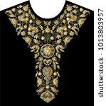 collar pattern. vector... | Shutterstock .eps vector #1013803957