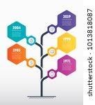 vertical timeline infographics. ... | Shutterstock .eps vector #1013818087