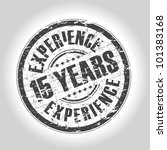 15 years experience stamp - stock vector