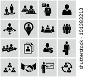 Human resources and management icons set. | Shutterstock vector #101383213
