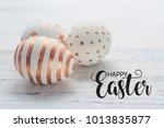 happy easter postcard banner.... | Shutterstock . vector #1013835877
