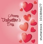 happy valentines day card | Shutterstock .eps vector #1013846677