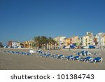 Villajoyosa Beach Against The...