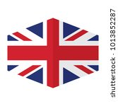 flag of united kingdom vector... | Shutterstock .eps vector #1013852287