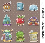 house stickers | Shutterstock .eps vector #101386117