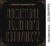 art deco creative font.... | Shutterstock .eps vector #1013869993