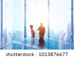 meeting and success concept.... | Shutterstock . vector #1013876677