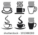 vector set of coffee cups and... | Shutterstock .eps vector #101388283