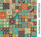seamless colorful patchwork... | Shutterstock .eps vector #1013895163