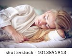 middle age woman sleep.... | Shutterstock . vector #1013895913
