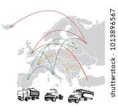 transportation  in europe  ... | Shutterstock .eps vector #1013896567