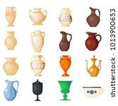 amphora vector amphoric ancient ...   Shutterstock .eps vector #1013900653