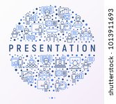 presentation concept in circle... | Shutterstock .eps vector #1013911693