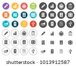 electronic icons set | Shutterstock .eps vector #1013912587