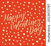 vector valentine day concept.... | Shutterstock .eps vector #1013925787