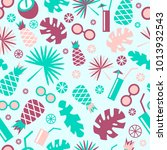 tropical seamless pattern.... | Shutterstock .eps vector #1013932543