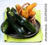 heap of green and yellow fresh... | Shutterstock . vector #1013936533