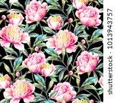 watercolor hand paint pink... | Shutterstock . vector #1013943757