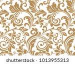 floral pattern. wallpaper... | Shutterstock .eps vector #1013955313