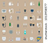 icons connectors cables with... | Shutterstock .eps vector #1013958577