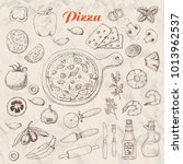 set of isolated ingredients for ... | Shutterstock .eps vector #1013962537