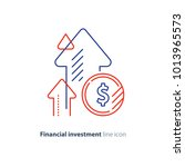 financial growth  investment... | Shutterstock .eps vector #1013965573