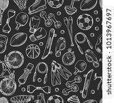 vector hand drawn sports... | Shutterstock .eps vector #1013967697