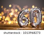 silver number 60 celebration... | Shutterstock . vector #1013968273