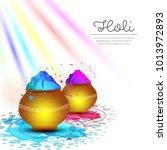 happy holi vector elements for... | Shutterstock .eps vector #1013972893