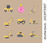 icons construction machinery... | Shutterstock .eps vector #1013973307