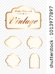 set of high quality vintage... | Shutterstock .eps vector #1013977897