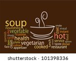 Soup tag clouds - stock vector