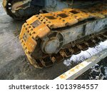 Small photo of Crawler track. Crawler construction machinery.